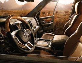 Enjoy Leather Bucket Seats and luxurious interiors of your 2017 Ram 1500 Canada