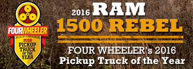 Ram 1500 The winner of FOUR WHEELER's 2016 Pickup Truck of the Year Award